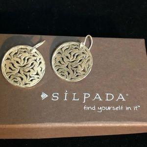 Silpada .925 sterling silver filigree earrings